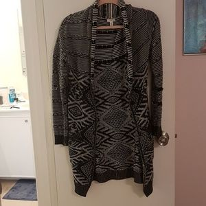 Long tribal sweater